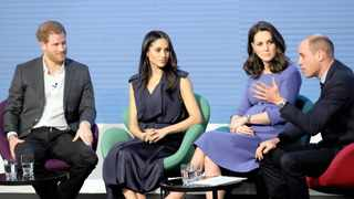 Prince Harry and Duchess of Sussex Meghan Markle with Prince William and his wife Catherine, the Duchess of Cambridge, in 2018. File picture: Chris Jackson/Reuters