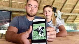 Duncan Potgieter and his girlfriend Claudine Naude have promised a R10 000 reward to anyone who can get back their missing dog Connor.     Oupa Mokoena African News Agency (ANA)