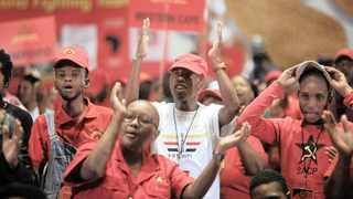 SACP delegates at the party's fourth special national congress, in Ekurhuleni, last month.  The SACP and Cosatu continue to have significant influence within the ANC, and, because they are a critical part of the Tripartite Alliance that brought Ramaphosa to power, he cannot alienate them entirely and be confident of retaining his hold on leadership, says the writer.      Nhlanhla Phillips African News Agency (ANA)
