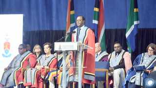 UNIVERSITY of Pretoria vice-chancellor and principal Professor Tawanda Kupe addresses the 2020 Welcome Day event attended by first-year students and their families.     Thobile Mathonsi African News Agency (ANA)