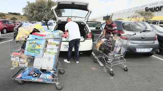 People panicked and rushed to the nearest stores to snap up food after President Cyril Ramaphosa's lockdown announcement. Picture: Simphiwe Mbokazi African News Agency (ANA)