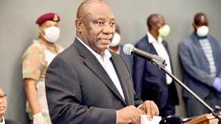 President Cyril Ramaphosa addressing those at the Ranch Resort on Sunday
