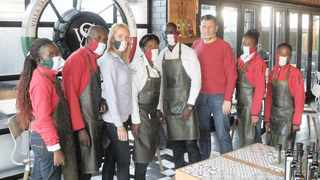 CHRISTIAN MAIORANA, pictured with his staff at Eat in Italian restaurant in Sinoville, says the sector which reopened last week is battling to get going.     Jacques Naude  African News Agency (ANA)