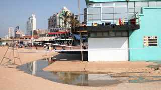 BEACHGOERS have complained about a foul stench emanating from water near the lifeguard station on Durban's North Beach. The municipality said it would investigate the matter.     Doctor Ngcobo African News Agency (ANA)