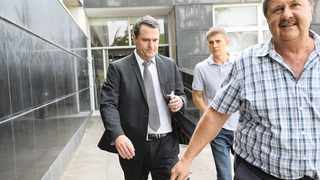 ENVIROSERV chief executive Dean Thompson leaving Durban Magistrate court. Picture: DOCTOR NGCOBO/Independent Media