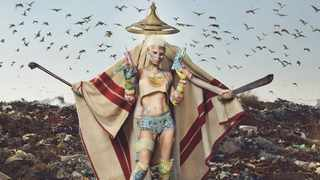 CONTROVERSY: Local music band Die Antwoord came under fire for posing the model on their self-titled album Die Antwoord in traditional Xhosa initiation clothing.