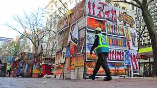 SHOW OF VIGILANCE: CCID public safety officers patrol St George's Mall. Picture: Henk Kruger/ANA