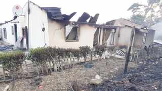 RAVAGED: A fire-damaged Kranshoek house bears testimony to devastation in the southern Cape. Picture: Lisa Ritchie