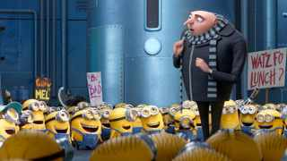 DISAPPOINTING: Gru (voice of Steve Carell) and the Minions return in Despicable Me 3. Picture: Illumination-Universal Pictures