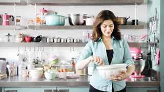 Nigella Lawson in her kitchen. Picture: Facebook