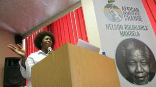 Ex-ANC MP Makhosi Khoza launched her new party, the African Democratic Change, in Braamfontein. Picture: Nhlanhla Phillips/ANA