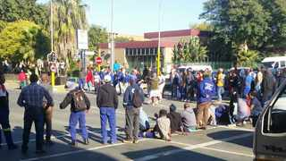 Disgruntled workers of the Alfred Duma Municipality in Ladysmith embarked on a wildcat strike shutting down several roads on Wednesday. Picture WhatsApp