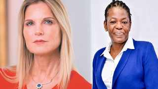 Sagarmatha deputy chairperson Rosemary Mosia (right) says Magda Wierzycka (left) she does not understand the valuation of unicorns. File Photo: IOL