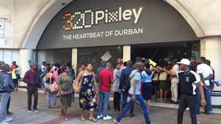Tenants of the popular 320 building on Dr Pixley Ka Seme (West Street) protested against the building's management on Thursday morning alleging that building is in a run-down state, the toilets are filthy, the lifts don't work and the water in the taps is brown. Picture Nosipho Nyide