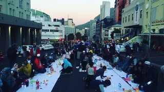"""Bo-Kaap residents held an """"iftar"""" protest in Wale Street on Friday as a week of anger culminated in a peaceful gathering to raise their concerns. Picture: Yazeed Kamaldien"""