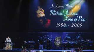 Musician Smokey Robinson speaks during the memorial service for Michael Jackson at the Staples Center in Los Angeles, California, U.S. on Tuesday, July 7, 2009.  Photographer: Pool/Bloomberg