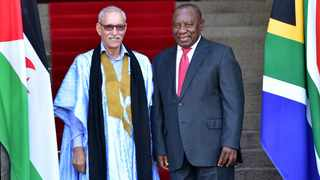 President Cyril Ramaphosa and President of the Saharawi Arab Democratic Republic (SADR), Brahim Ghali. Picture: Ntswe Mokoena/GCIS.