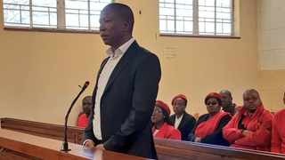 EFF leader Julius Malema in the Newcastle Magistrate's Court Picture: @EFFSouthAfrica/Twitter