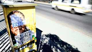 Posters advertising back street abortions abound throughout South Africa. PICTURE: NOKUTHULA MBATHA/AFRICAN NEWS AGENCY/ANA