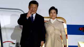 Chinese President Xi Jinping and his wife Peng Liyuan arrived at Waterkloof Air Force Base in Pretoria ahead of the 10th BRICS Summit which will be held in Johannesburg. Picture: Department of International Relations and Cooperation (Dirco)