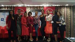 The Durban Chamber of Commerce and Industry CEO Palesa Phili with invited guests at the Women Leaders event.  Photo: Reporter