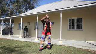 Dipo Mhlongo, a storyteller, at the Ohlange Institute. Picture: Zanele Zulu.