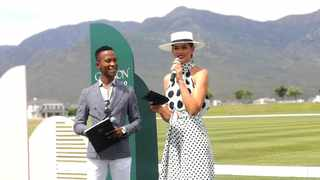 MCs Katlego Maboe and former Miss SA Rolene Strauss. Picture: Marvin Charles