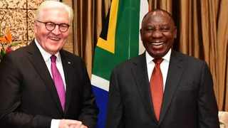President Cyril Ramaphosa and German President Frank-Walter Steinmeier. Picture: GCIS
