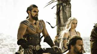Khal Drogo and Daenerys wedding in episode 1 of season 1. Picture: HBO