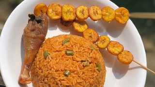 Jollof rice, fried chicken and plantain Picture: Instagram (naija_foodie)