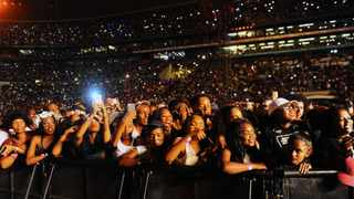 Concert-goers at the Global Citizen Festival at FNB Stadium. Picture: Bhekikhaya Mabaso/African News Agency (ANA)