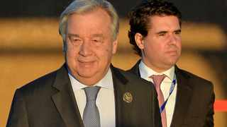 U.N. Secretary General Antonio Guterres arrives to attend the Intergovernmental Conference to Adopt the Global Compact for Safe, Orderly and Regular Migration, in Marrakesh, Morocco. Picture: Reuters/Abderrahmane Mokhtari
