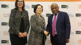 From left, Ina Cronjé, TIKZN Board Chairperson; Wan Jiangpin, Vice Chairperson of the Chinese People's Political Consultative Conference and Sihle Zikalala, MEC for Economic Development, Tourism and Environmental Affairs. Photo: Supplied