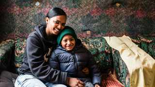 """Imraan  Freeman and his mother Faranaaz. """"When I said I'm not burying my son at seven years old, I meant it,"""" Faranaaz says. Picture: Beautiful News South Africa"""