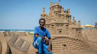 Lucas Mahlangu's three-dimensional creations come to life against the backdrop of the roaring Indian Ocean.  Picture: Beautiful News South Africa