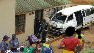 A taxi rolled down an embankment into a house in Ntuzuma on Friday afternoon.
