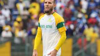 Suspended Jeremy Brockie will not travel to Nigeria with Mamelodi Sundowns. Photo: Gavin Barker/BackpagePix