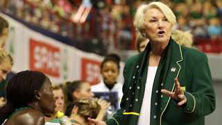Proteas coach Norma Plummer reacts from the sideline at the Netball World Cup. Photo: Muzi Ntombela/BackpagePix