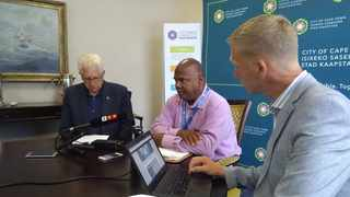 Community Safety MEC Alan Winde, Mayor Dan Plato and Mayco Member for Safety and Security JP Smith. Photo: Facebook