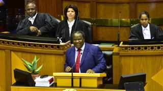 Finance Minister Tito Mboweni tabling the 2019 budget in Parliament. Picture: GCIS