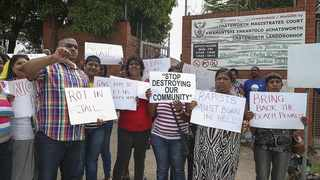 The Chatsworth community were outraged and demonstrated after the death of Baby X who was allegedly tortured and killed by her grandmother and mother. They protested outside the Chatsworth Magistrates Court when the case surfaced in 2014. Picture: Independent Media