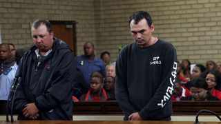 Theo Martins Jackson and Willem Oosthuizen in the Middelburg Magistrate's Court. File picture: Independent Media