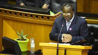 Minister of Finance Tito Mboweni delivered the Medium-Term Budget Policy Statement in Parliament . Picture: Phando Jikelo/African News Agency (ANA)