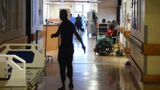 Covid-19 patients waiting on the passages of the Khayelitsha District Hospital to be attended by doctors and nurses. Picture: Phando Jikelo/African News Agency(ANA)