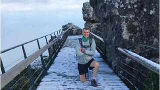 On his 1 000th climb up Table Mountain and Platteklip Gorge, 70-year-old Robert 'Roy' van Zyl finished it in just 56 minutes – a milestone he has waited years to accomplish.