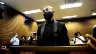 Tshegofatso Pule 's ex boyfriend Nthuthuko Shoba appeared at the Roodepoort Magistrate Court for conspiracy to murder .Picture:Nokuthula Mbatha/African News Agency (ANA)