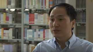 Dr He said 16 out of 22 embryos were edited, and 11 were used in six IVF attempts before a woman became pregnant with her twins. Picture: YouTube.com