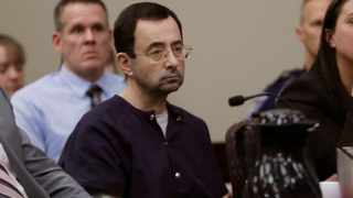 Larry Nassar sits during his sentencing hearing Wednesday, Jan. 24, 2018, in Lansing, Mich. Members of the US Gymnastics board have bowed to resignation demands in the wake of revelations that a long-time national team doctor sexually abused dozens of female athletes. File picture: AP Photo/Carlos Osorio.