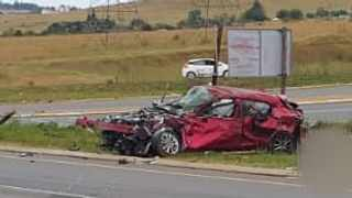 One of the vehicles involved in yesterday's crash in Vryheid Picture: Supplied