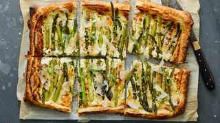This gorgeous asparagus-striped tart is so easy it almost feels like cheating. But it's not. It's just simple yet stunning, effortlessly chic and company-ready. PICTURE: The New York Times